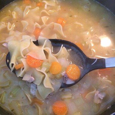sensational chicken noodle soup recipe