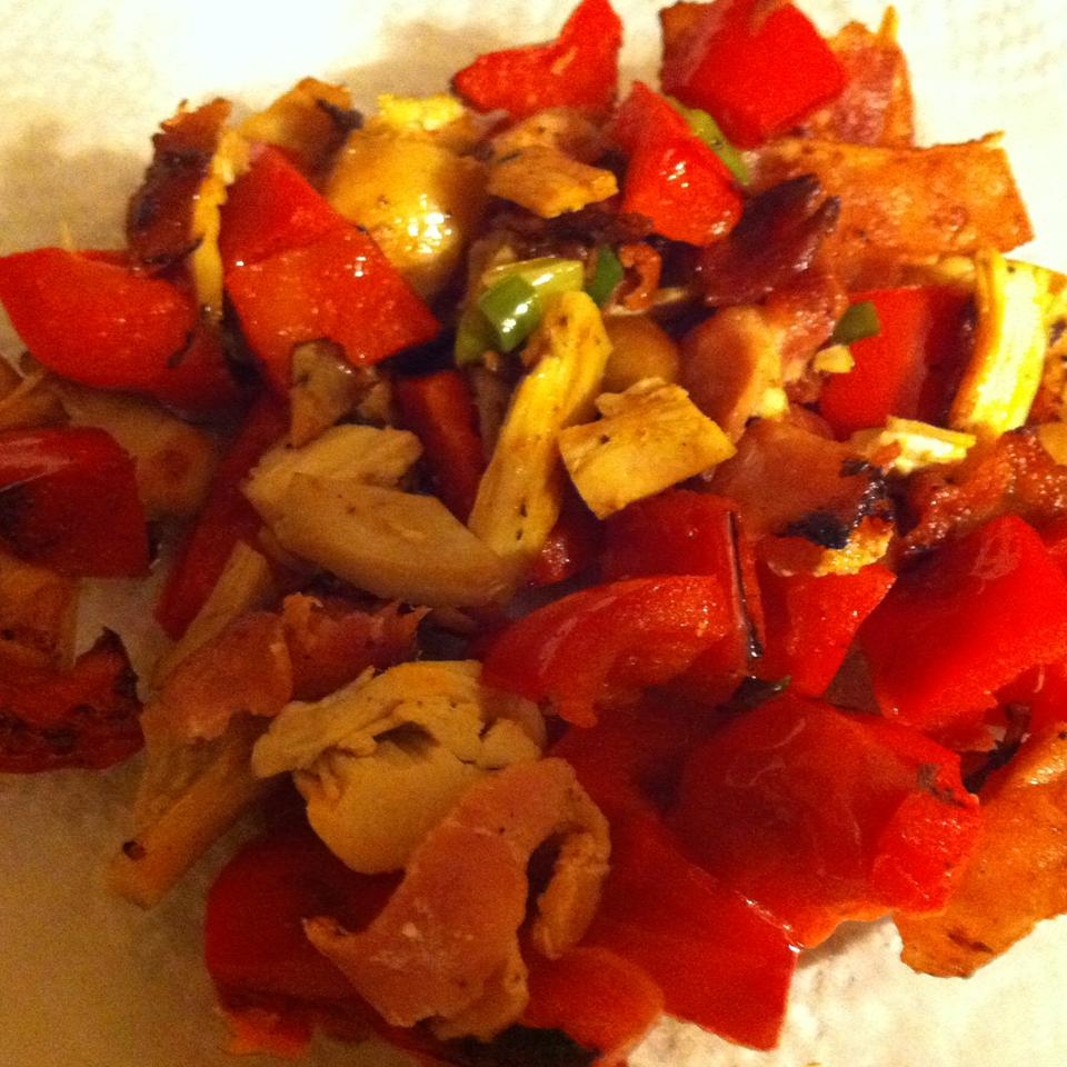 Sauteed Chicken and Red Peppers