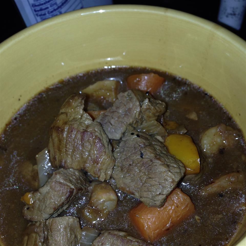 Mom's Hearty Beef Stew with Dumplings james s