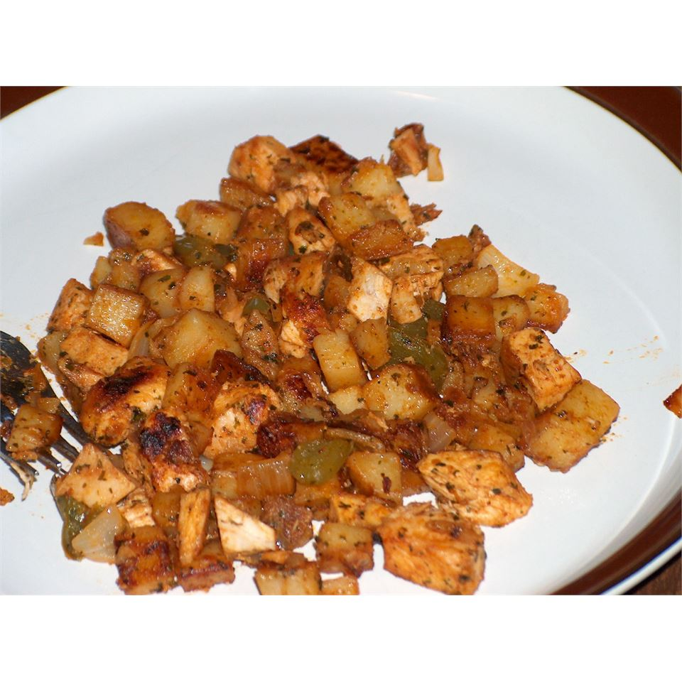 Chicken Chili Hash With Peppers & Cilantro Ben S.