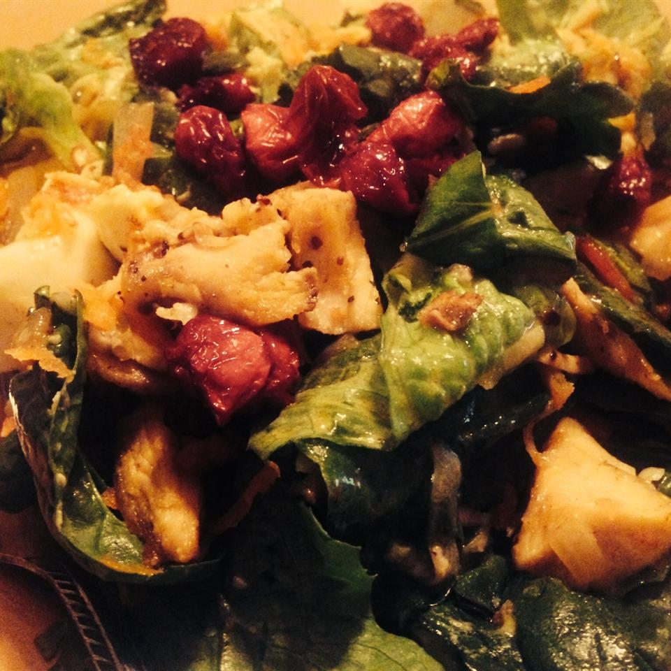Spinach Salad with Warm Bacon-Mustard Dressing