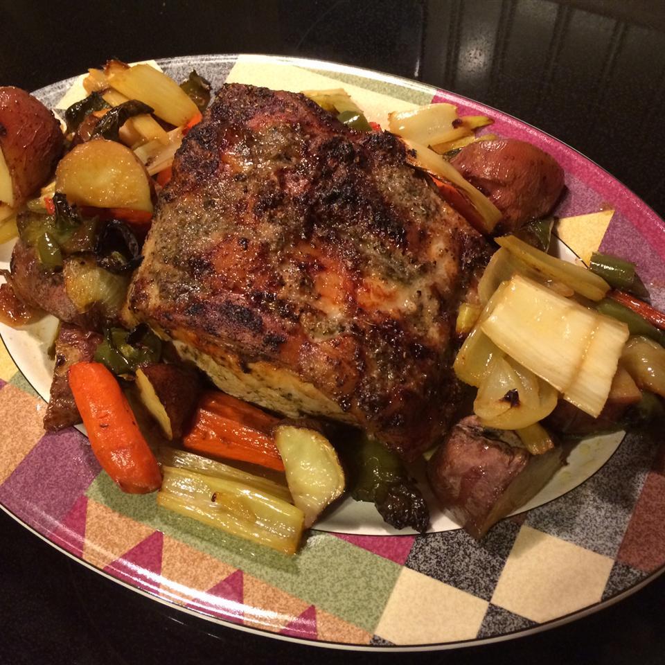 Cajun Roasted Pork Loin cookingandrees