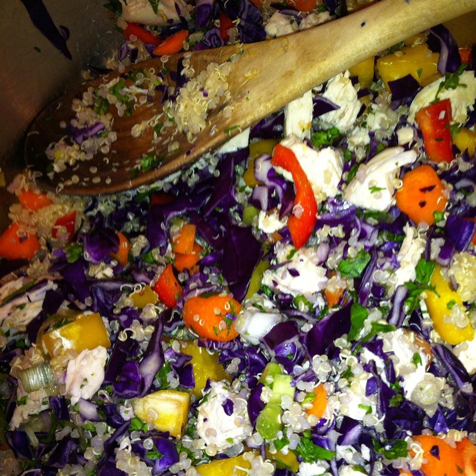 Spicy Chicken and Spelt Salad Ingrid