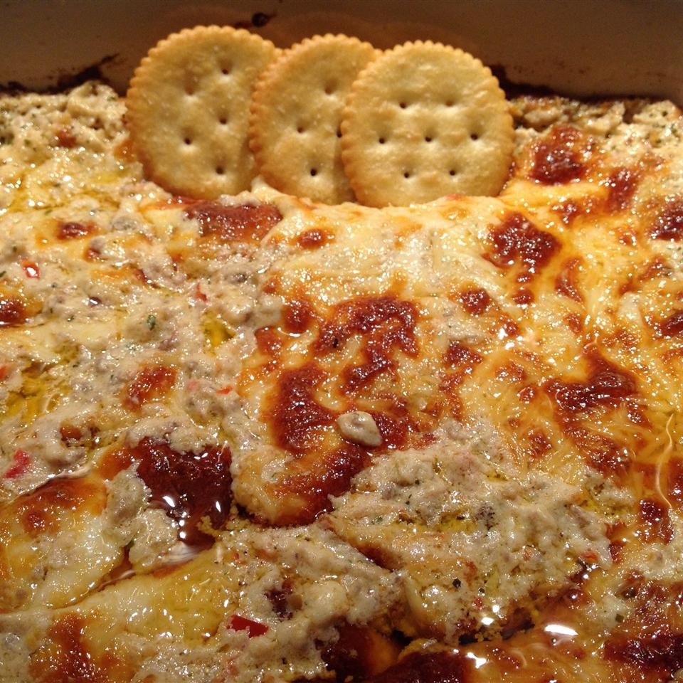 RITZ White Pizza Meatball Dip, created by Lombardi's Pizza Esmee Williams