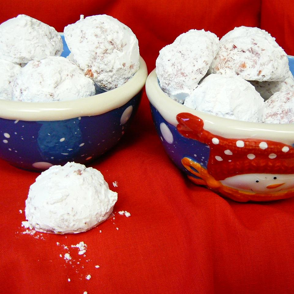 Cherry Snowball Cookies Molly