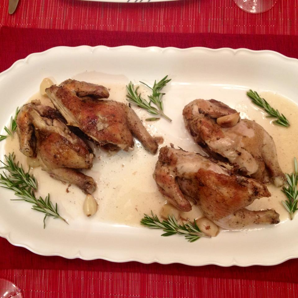 Cornish Game Hens with Garlic and Rosemary Manmuntie
