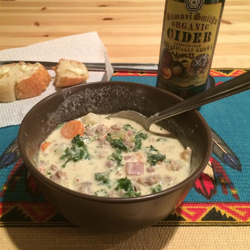 Sausage, Potato and Kale Soup