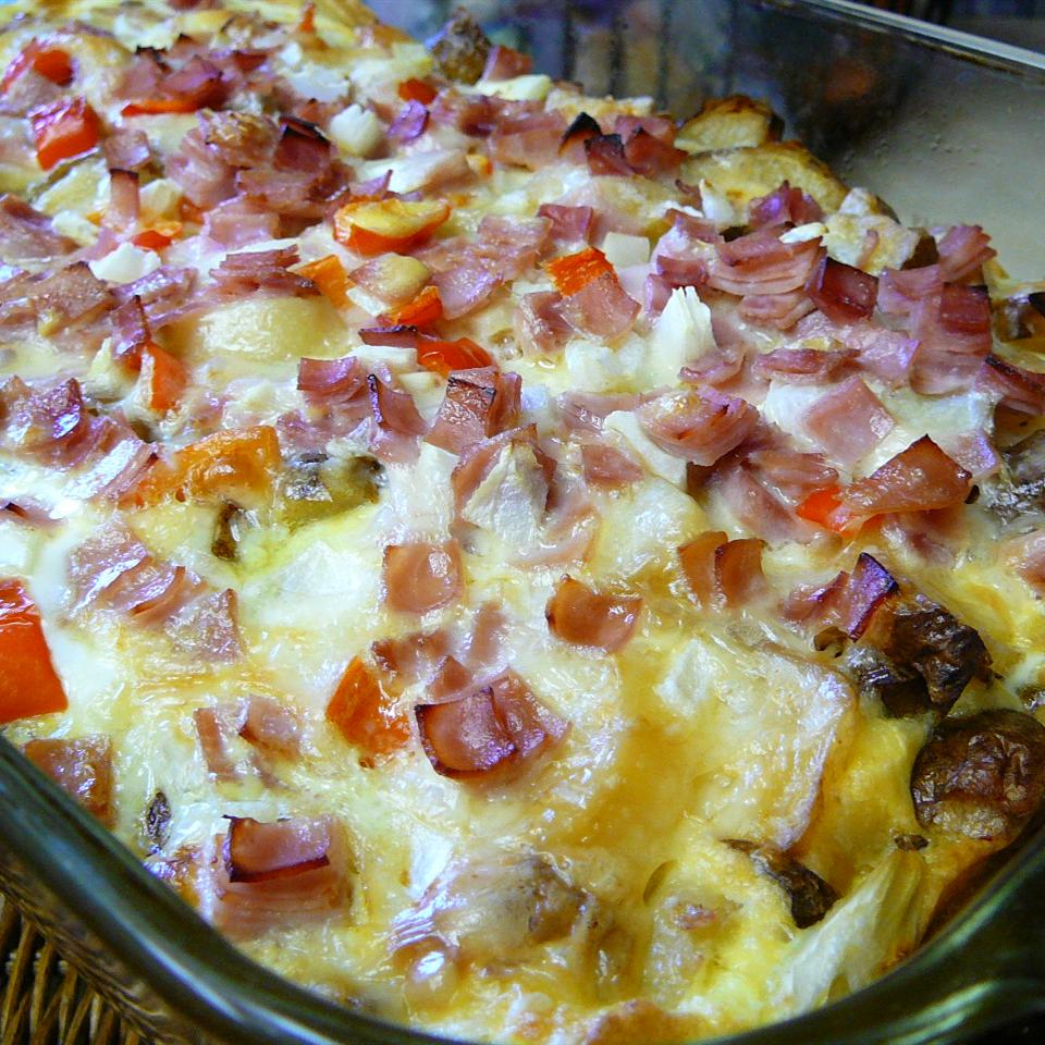 Ham and Cheese Breakfast Quiche Molly