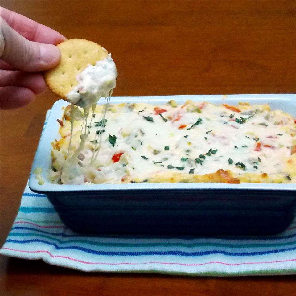 RITZ White Pizza Meatball Dip, created by Lombardi's Pizza RITZ Crackers