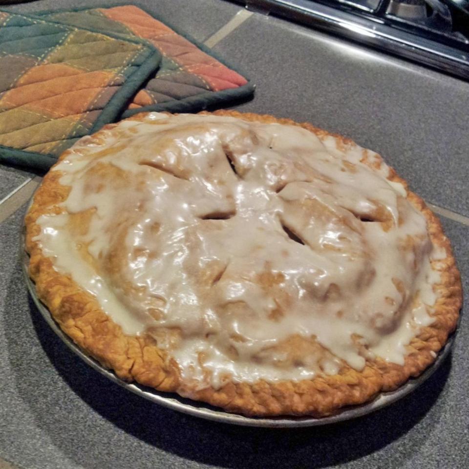 Glazed Apple Cream Pie Anonymous