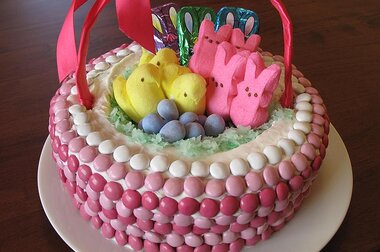 Enjoyable Easter Basket Cake Allrecipes Funny Birthday Cards Online Necthendildamsfinfo