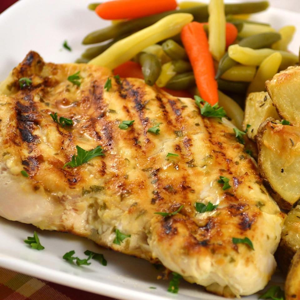 Grilled Tarragon Mustard Chicken