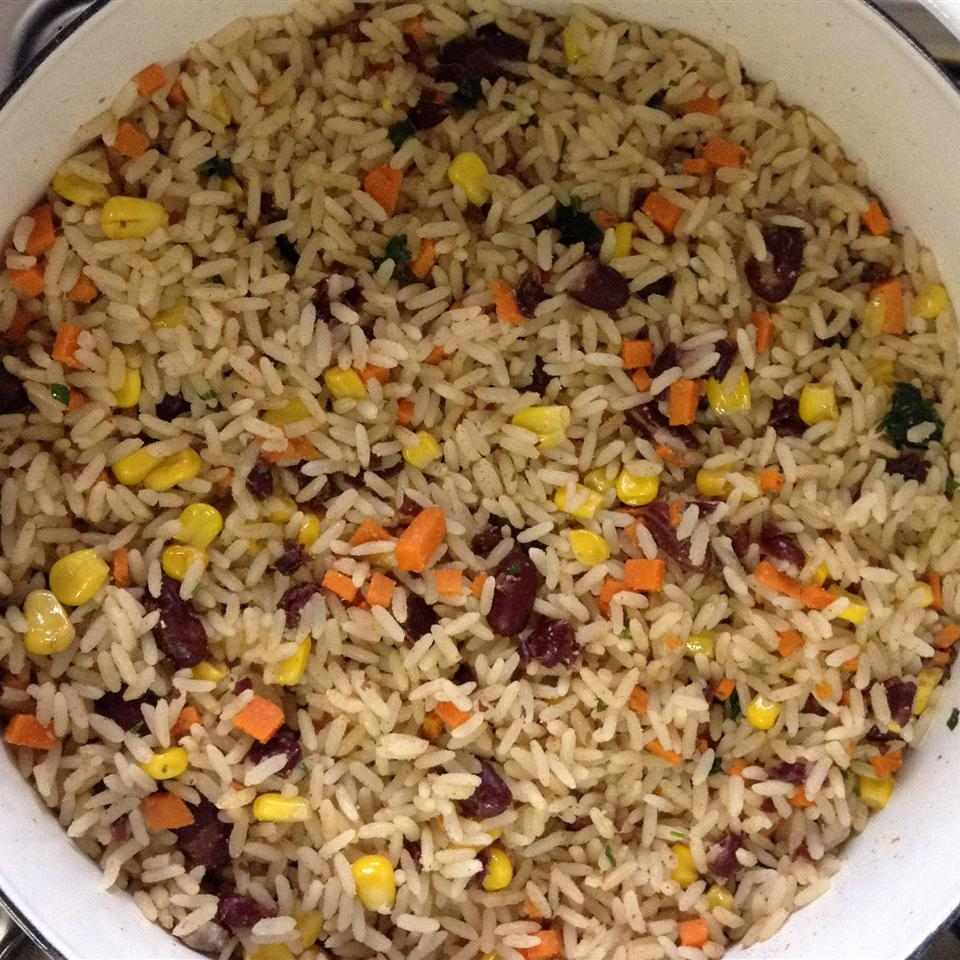 Black Beans, Corn, and Yellow Rice Louise