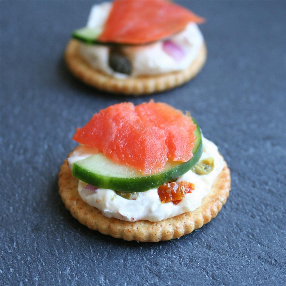 """RITZ """"Everything"""" Bites with Lox and Schmear Jennifer Baker"""