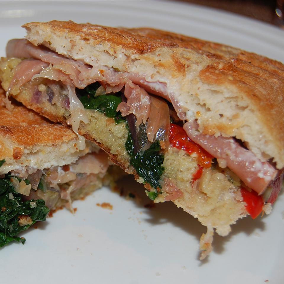 Prosciutto and Provolone Panini Sandwiches Raquel Teixeira