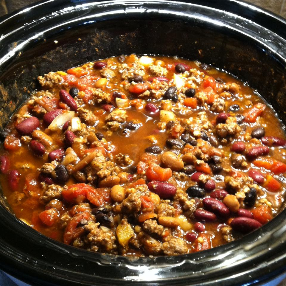Slow Cooker 3-Bean Chili