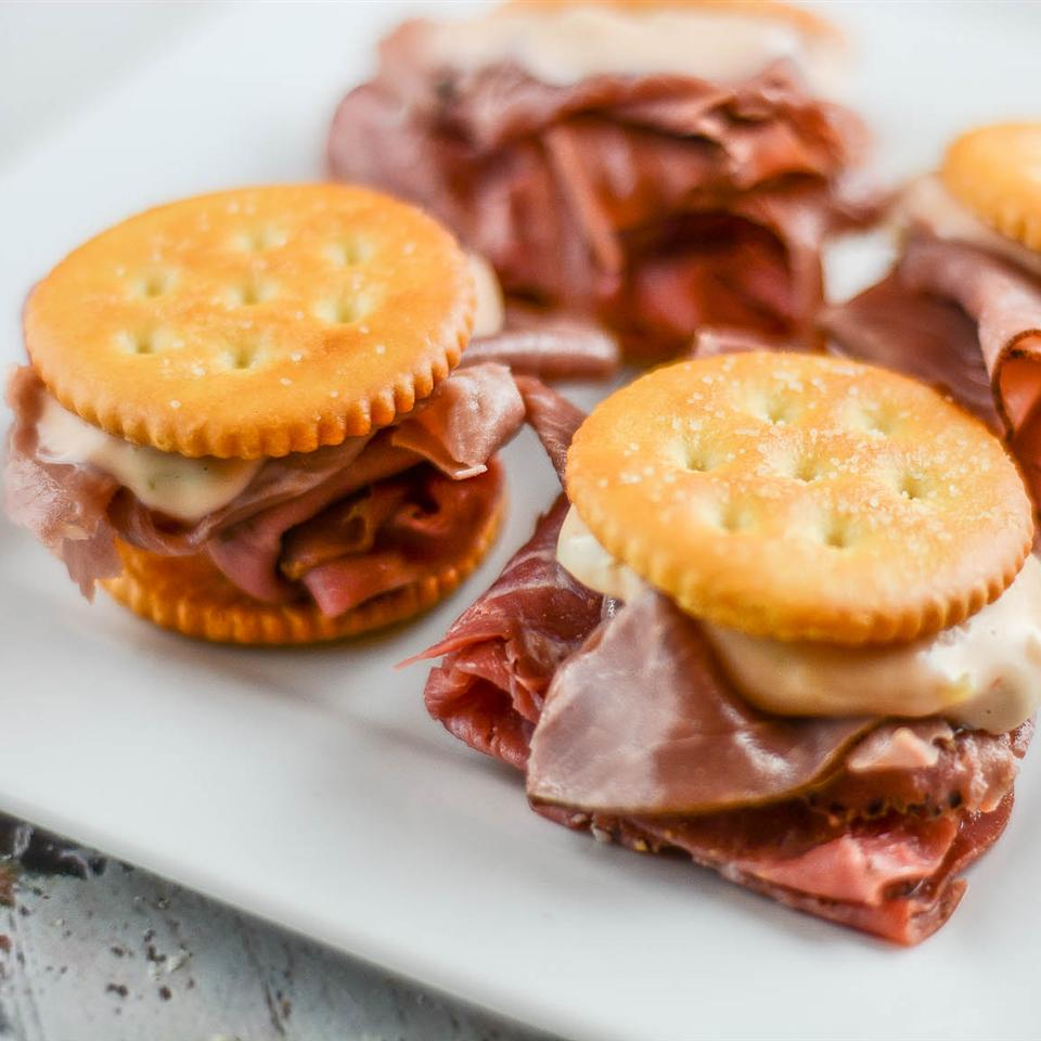 RITZ Pastrami and Corned Beef Mini Sandwich, created by Carnegie Deli Occasional Cooker