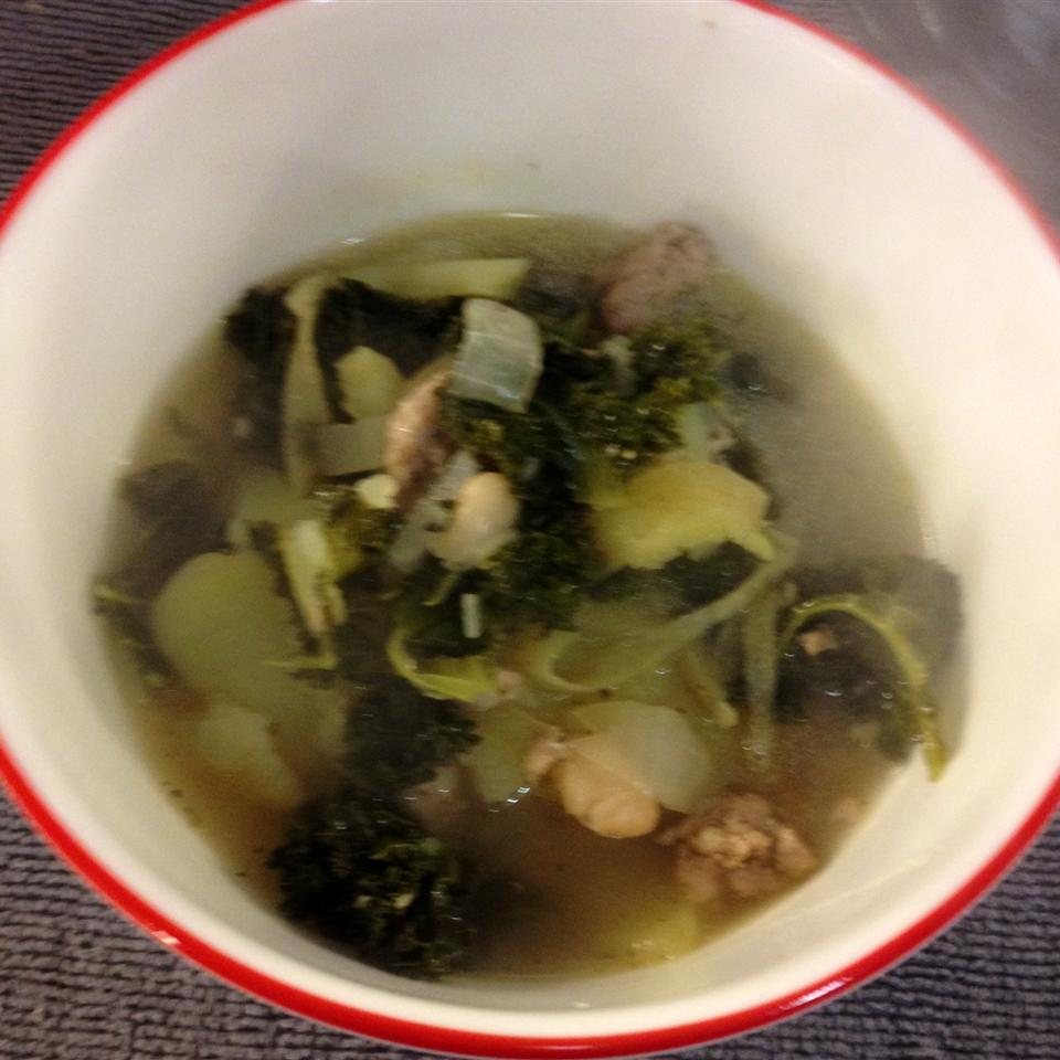 Almost Tuscan Sausage and Kale Soup Wendy