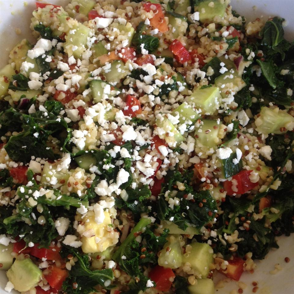 Kale, Quinoa, and Avocado Salad with Lemon Dijon Vinaigrette