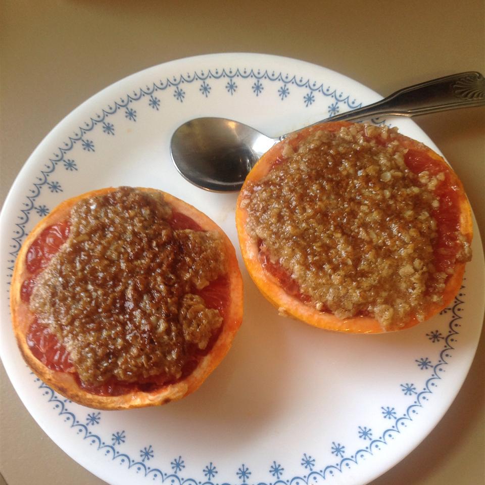 Broiled Grapefruit Crisp
