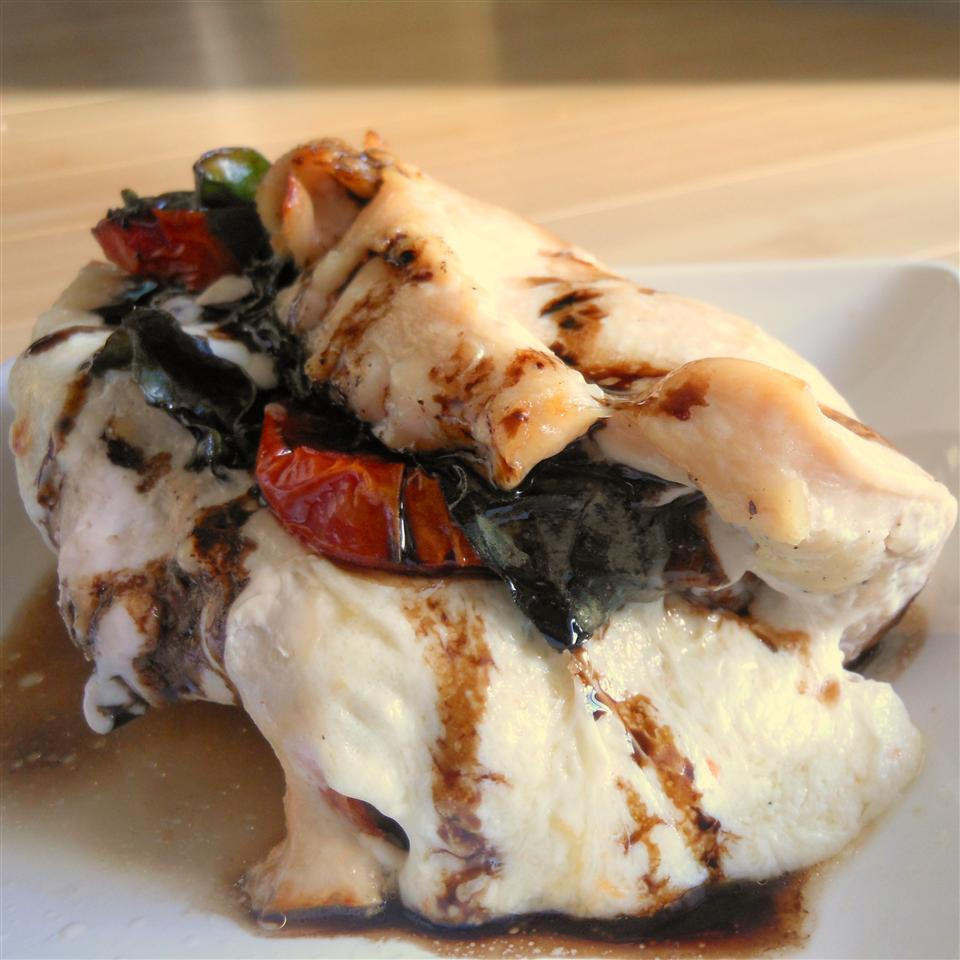 Caprese-Stuffed Chicken Breast with Balsamic Reduction SunnyDaysNora