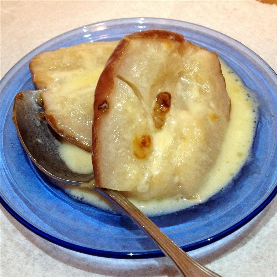 Creamy Baked Pears