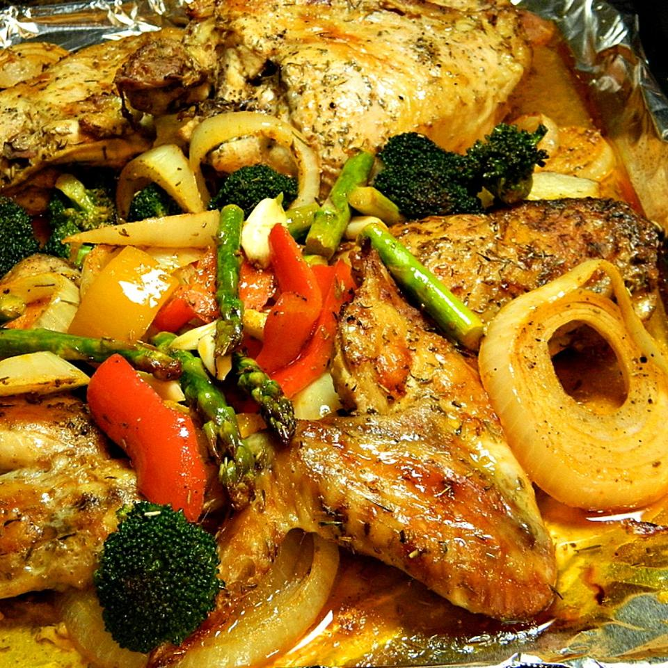 Book Club Herb Roasted Chicken and Vegetables Marianne