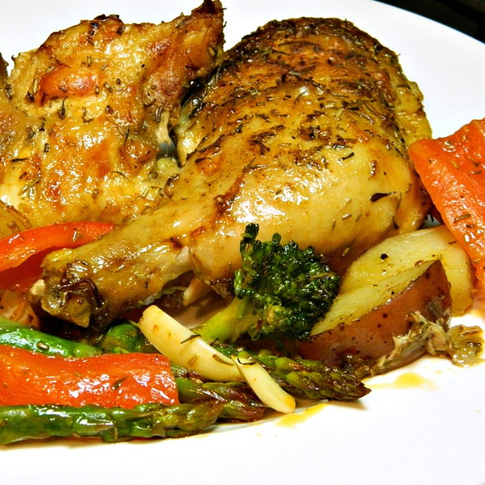 Book Club Herb Roasted Chicken and Vegetables