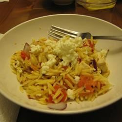 Orzo with Tomato and Fried Tofu Eric