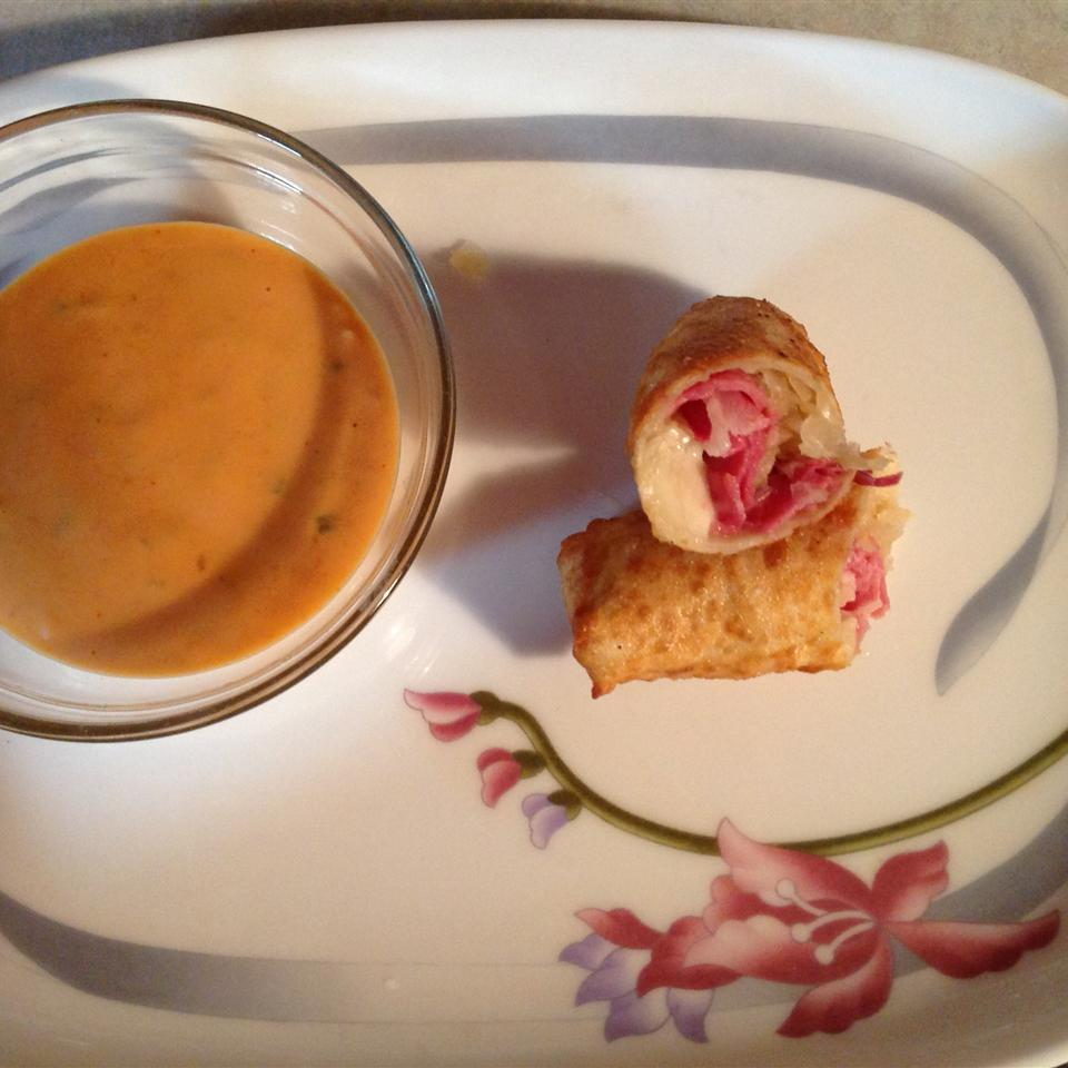 Egg Roll Reuben Wraps