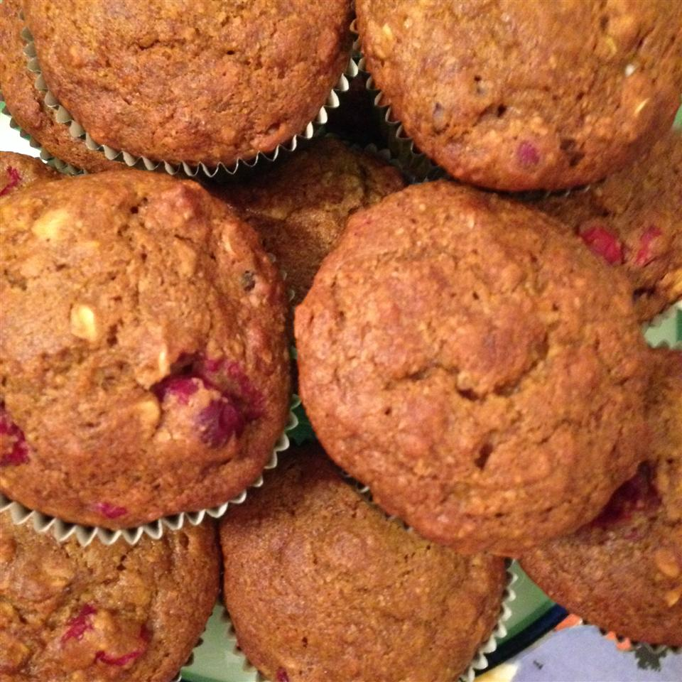 Healthy Pumpkin Cranberry Muffins Gina