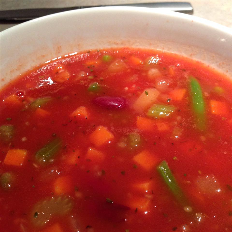 Colene's Easy Tomato Vegetable Soup Blewbary