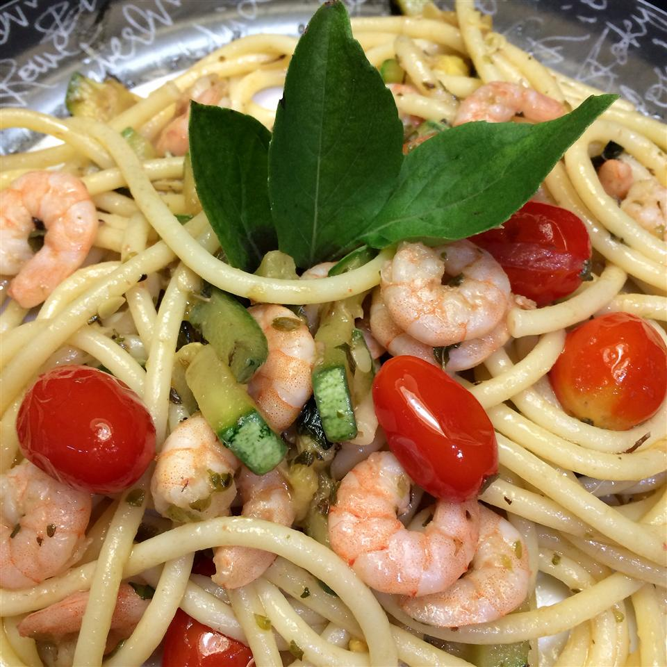 Bucatini Pasta with Shrimp and Anchovies mspawn