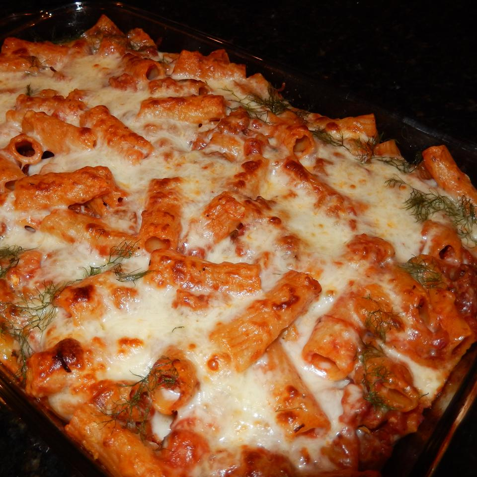 Baked Rigatoni with Italian Sausage and Fennel