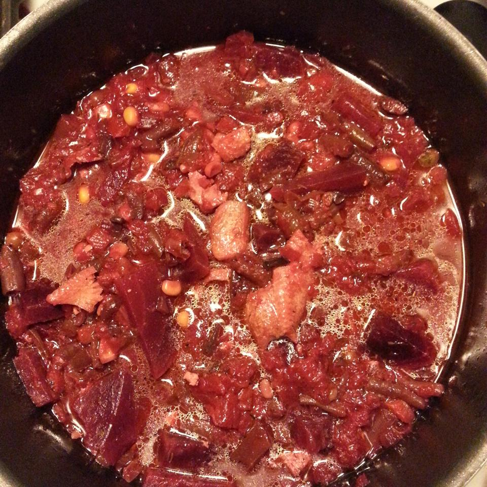 Roasted Beet, Crab and Vegetable Soup MaryFrances