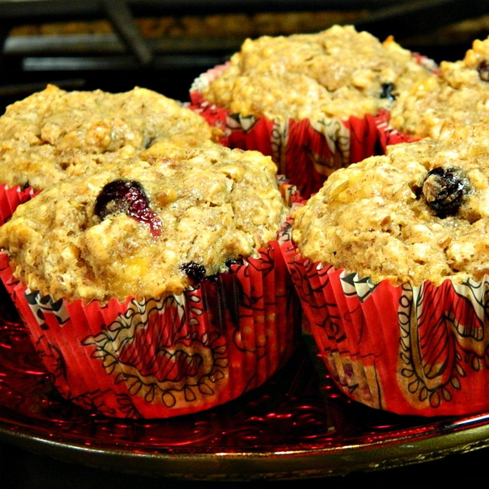 Blueberry Banana Coconut Flax Muffins