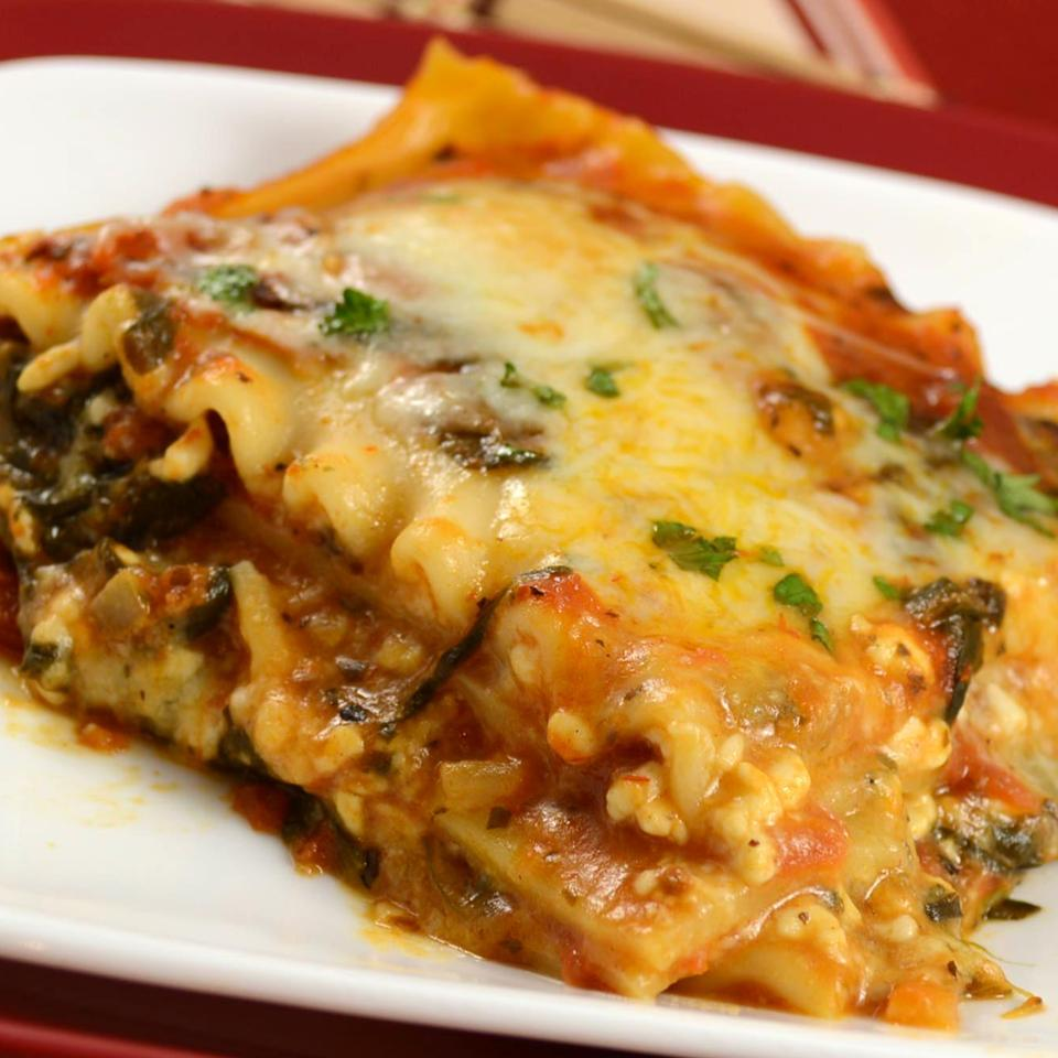 Simple Spinach Lasagna