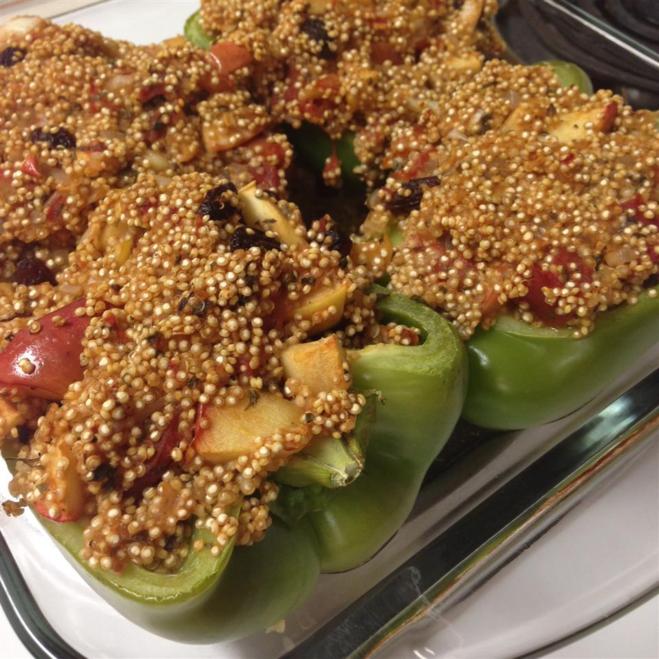Vegetarian Stuffed Red Bell Peppers timmy354321