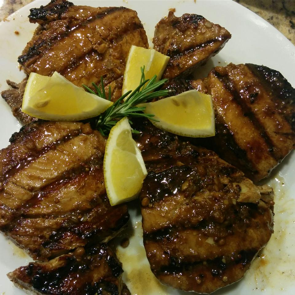 Grilled Yellowfin Tuna with Marinade
