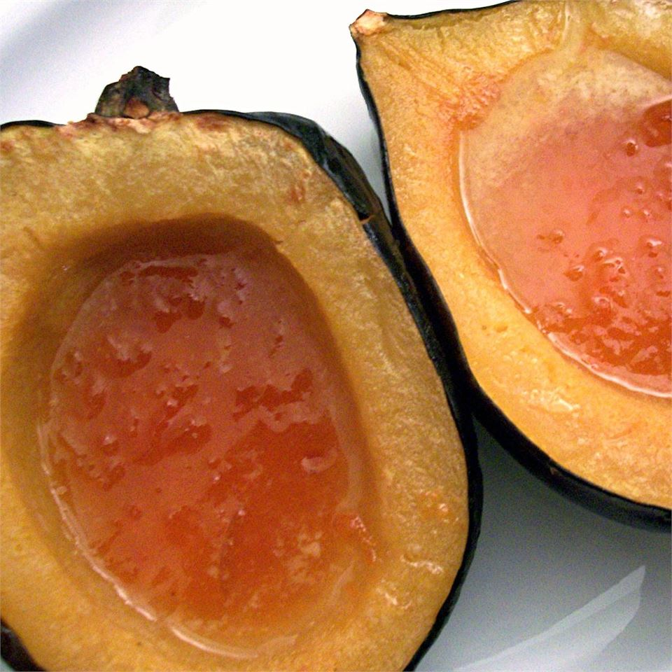 Baked Acorn Squash with Apricot Preserves EDITHPOOLE