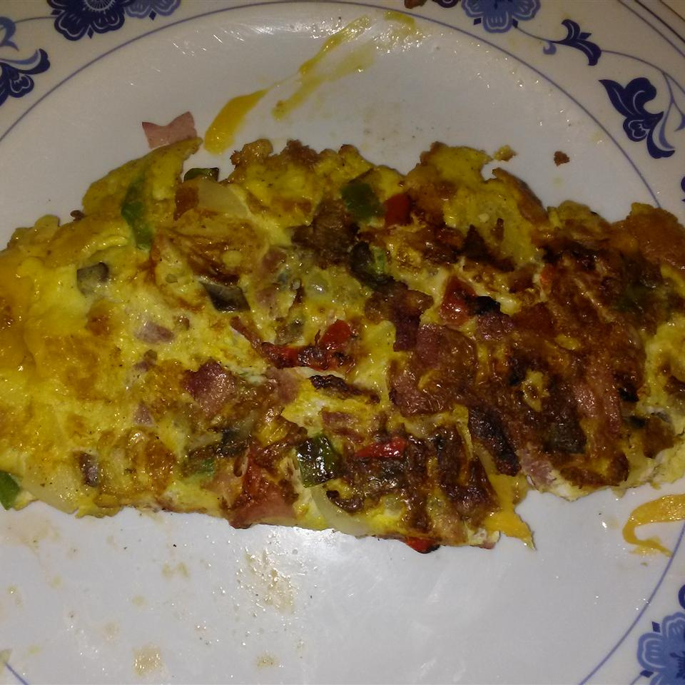 Six-Egg Omelet with Veggies and Cheese