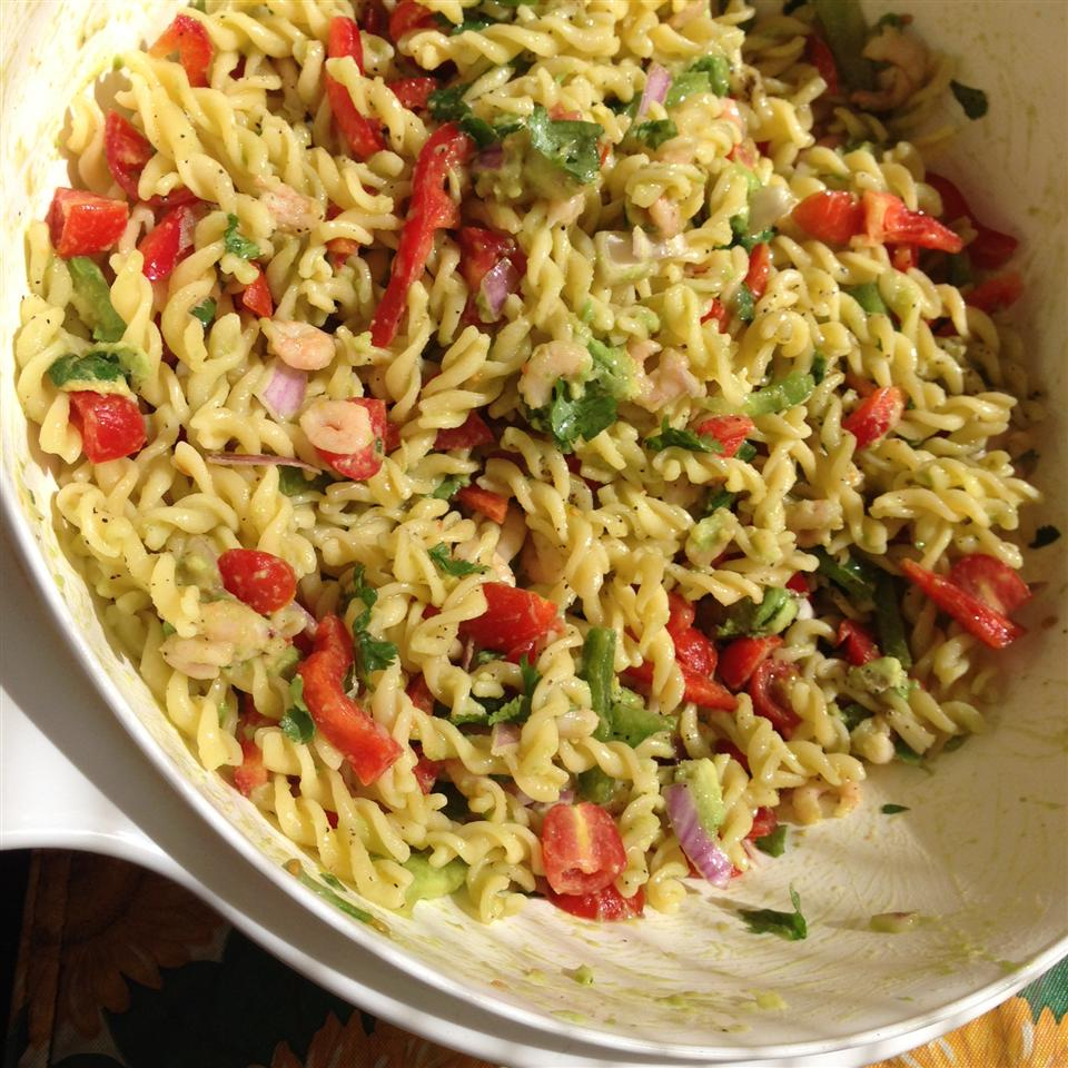 Lime-Shrimp Avocado Pasta Salad lori sabiniano