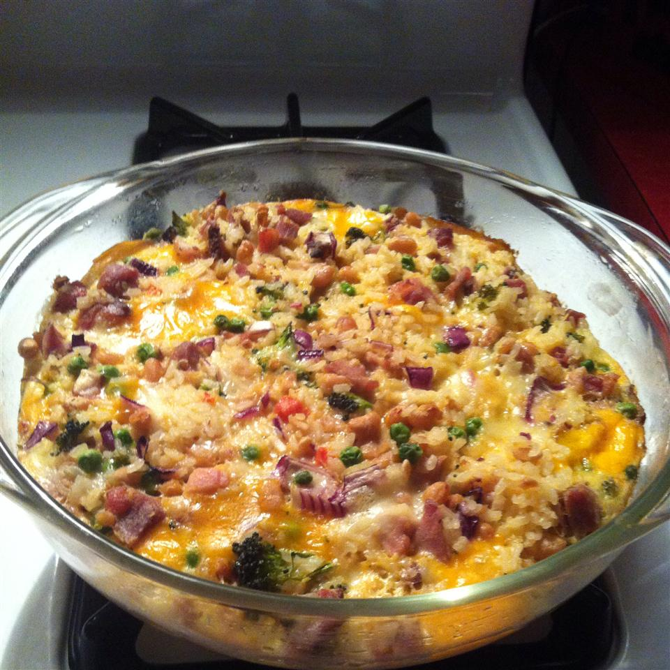 Cheesy Turkey Rice Casserole