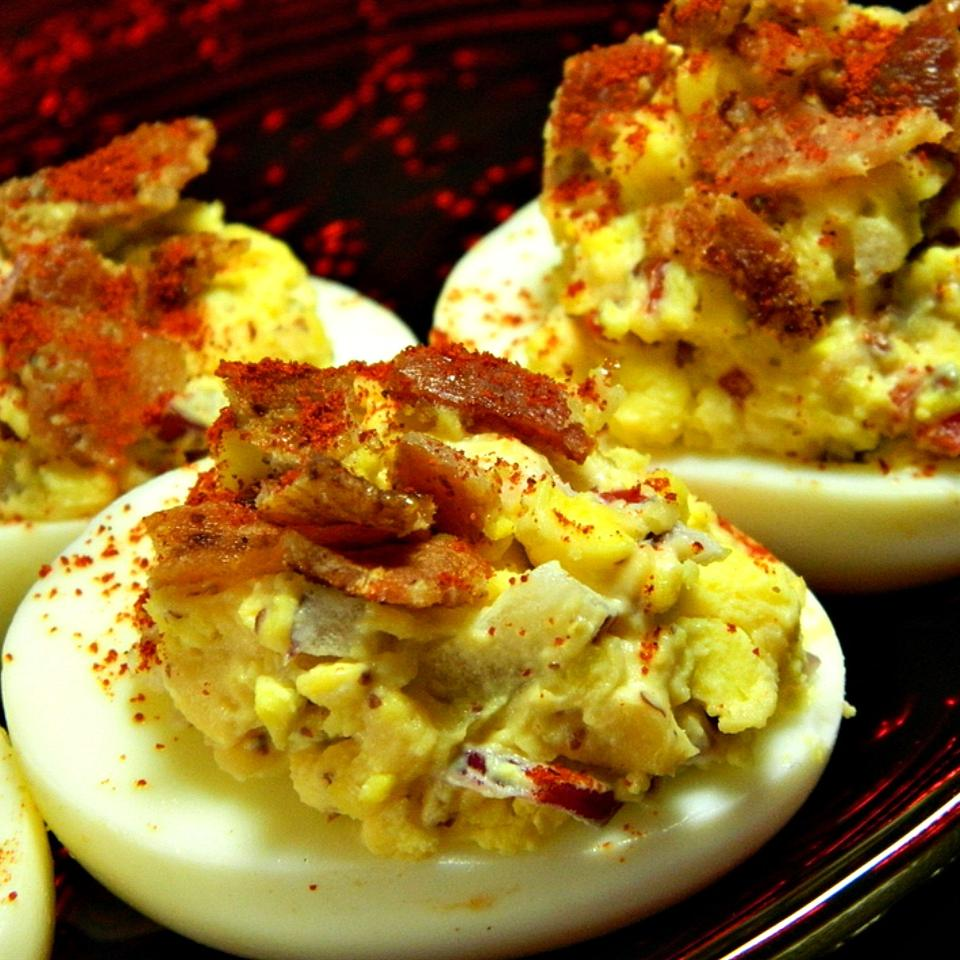 Jalapeno Bacon Cheddar Deviled Eggs