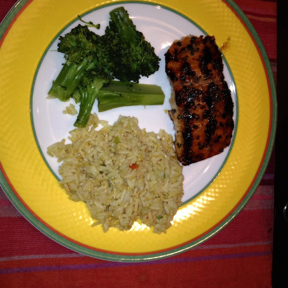 Spicy-Sweet Glazed Salmon anything but chef jeff
