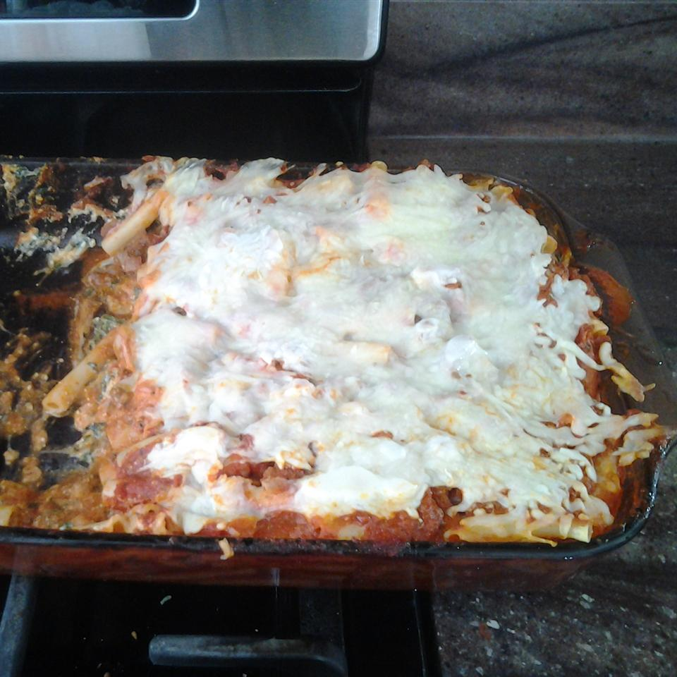 Baked Ziti with Spinach and Meat
