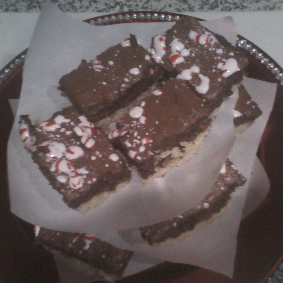 Gooey Brownies with Shortbread Crust