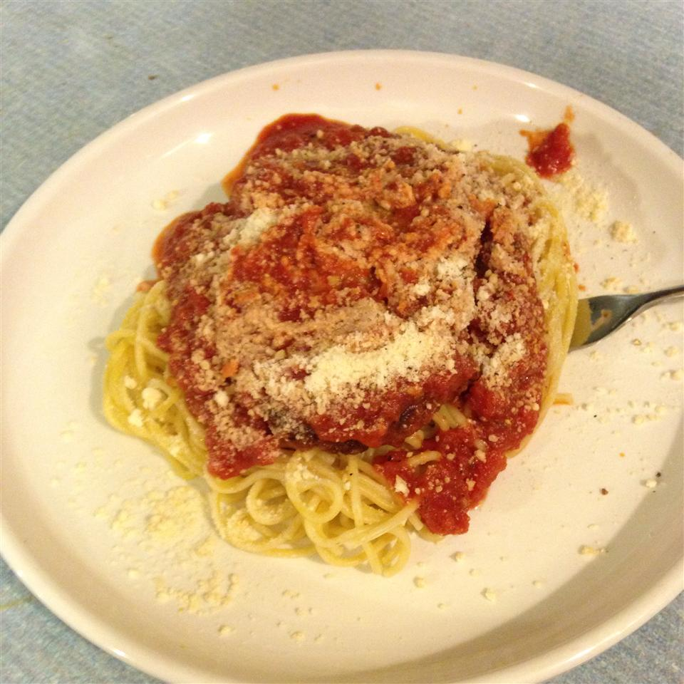 Simple Chicken Parmesan amandayums
