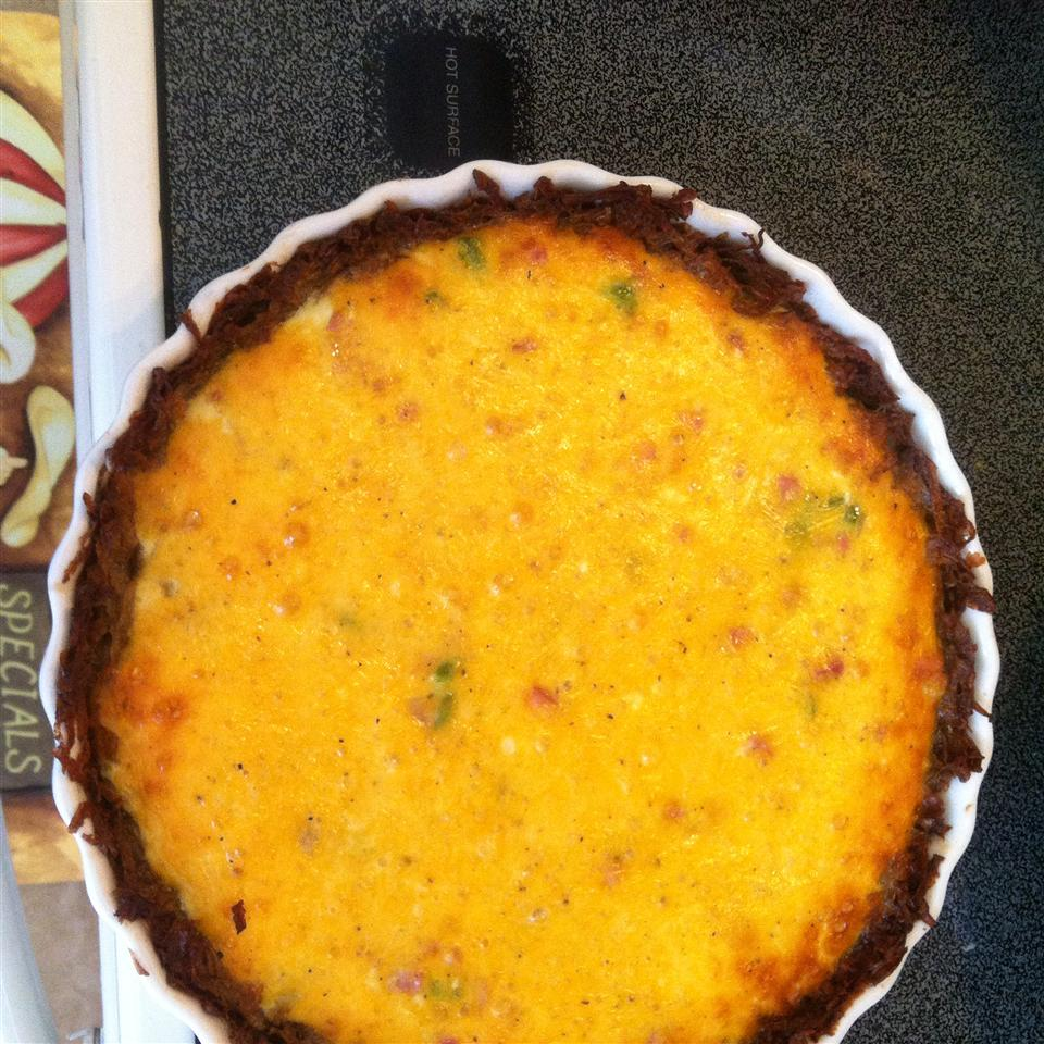 Ham and Hash Brown Quiche