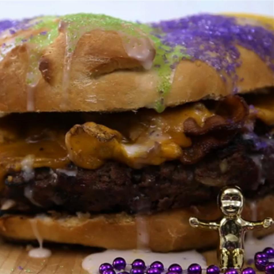 Giant King Cake Burger Lorem Ipsum